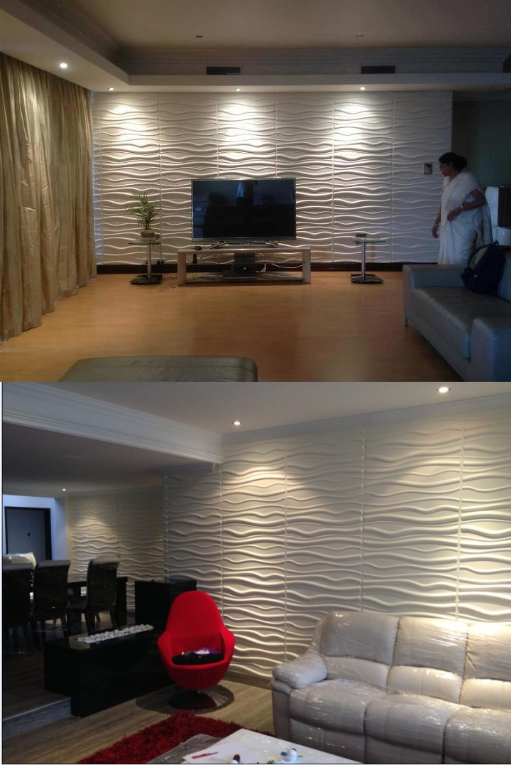 Decorative PVC 3D ceiling/wall panel /wallpaper for commercial decor