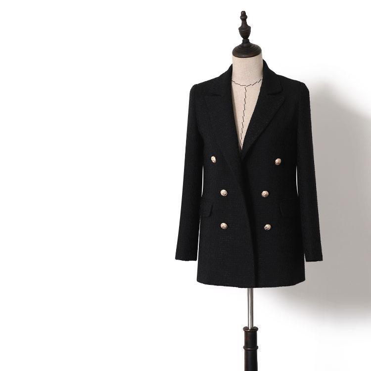 c2a40873a6 Ropa de las mujeres 2019 personalizado negro las mujeres de oficina formal  Dama doble botonadura de