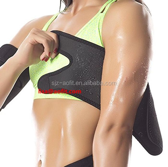 549ca9133f 2018 Fat Buster Calorie Off Neoprene Slimming Upper Sauna Arm Shaper Belt