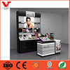 Top Quality wooden acrylic makeup cosmetic display stand for cosmetics