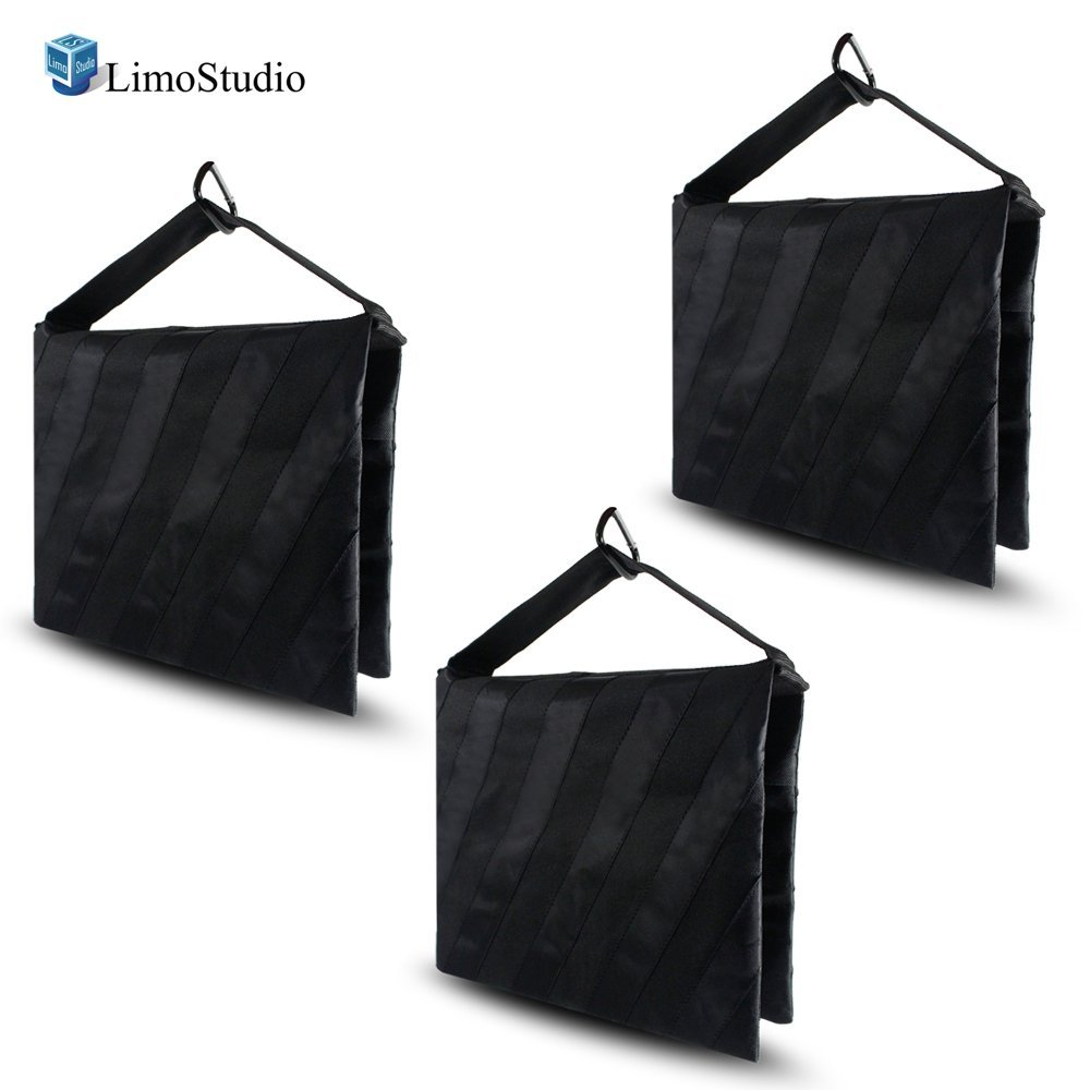 LimoStudio 4 x Photographic Studio Video Equipment Century Stand Light Stands Sandbag Sand Bag Saddle Bag