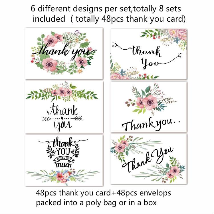 Commercio all'ingrosso Logo Personalizzato Del Campione In Bianco Da Sposa di Design biglietto di Auguri Regalo di Ringraziamento Note Carte di 4x6 Set con Buste e pacchetto