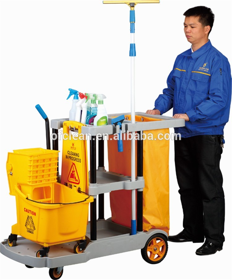 Multifunction Hotel Housekeeping Cleaning Trolley