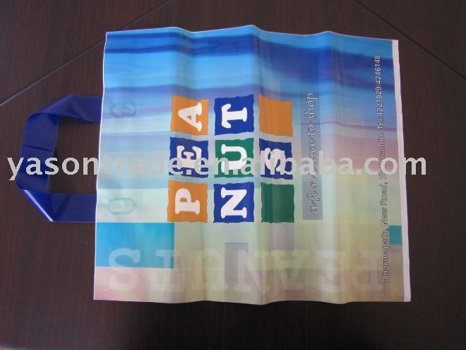 plastic shopping bag with handle for clother
