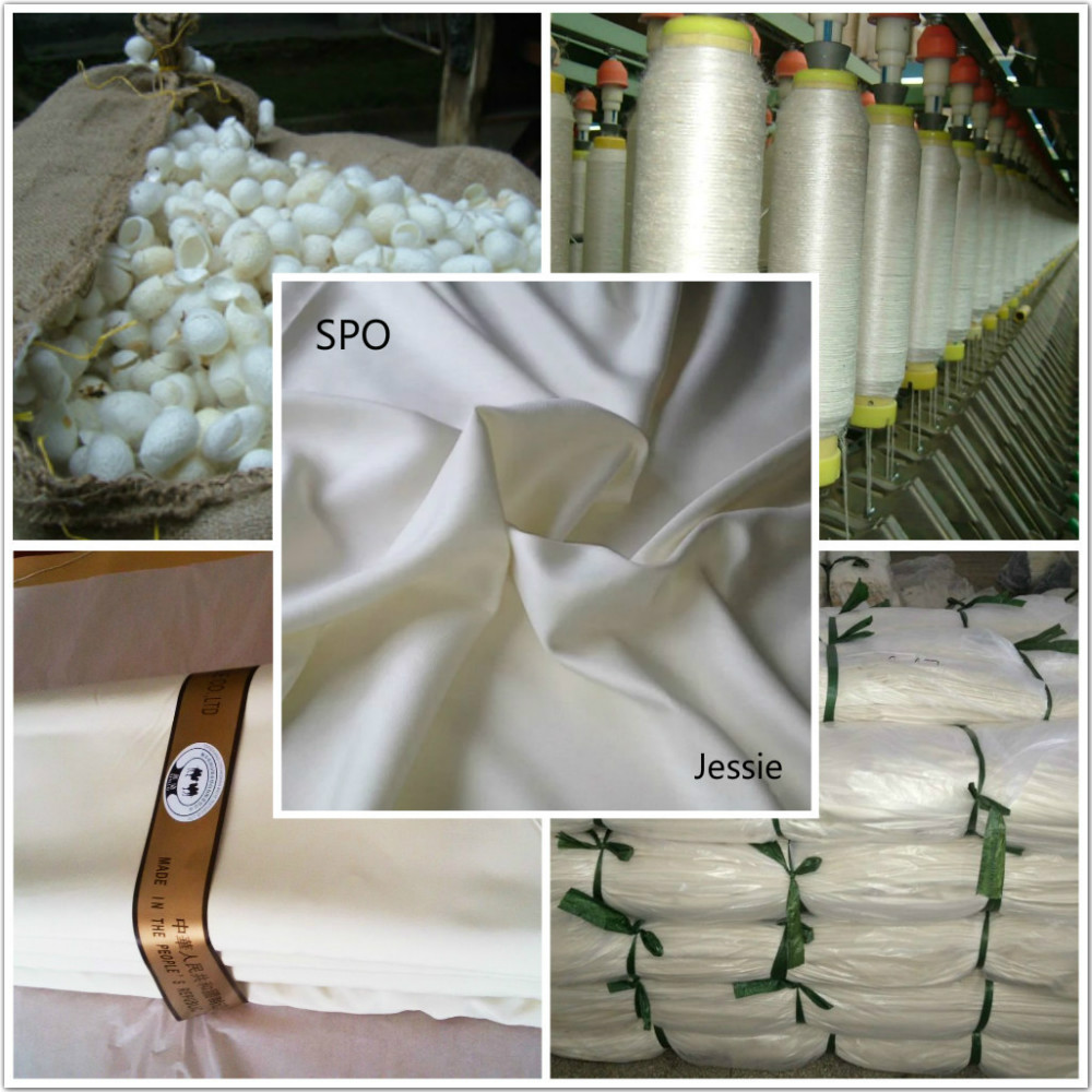 China Bosky wholesale price stable quality pure silk fabric 30104 raw white arabic thobe for men fabrics