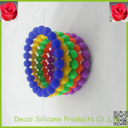 Pearl beads colorful wristbands,unique wrist bands,canada silicone bracelet,jewelry fashion