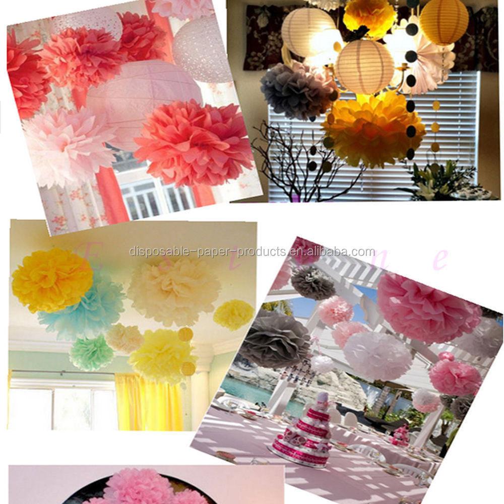 Hanging Pom Pom Decorations Pink Lemonade Diy Party Decoration Ideas Backdrop Hanging Tissue