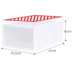 white color drawer storage cabinet plastic 13L kitchen drawer organizer plastic drawer storage box at home