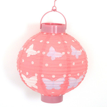 Custom Printed Battery Operated Colored Lampion Led Paper Lanterns For Wedding