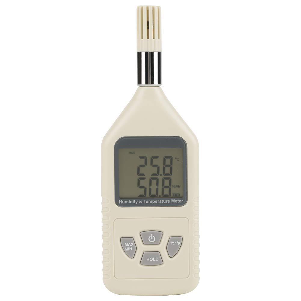Akozon Handheld Digital Humidity Temperature Meter, GM1360 Hygrothermograph Hygrometer Thermometer
