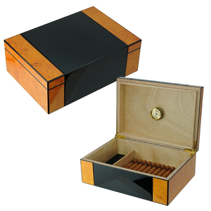 Cigar Humidor Wood Box Hold 50 Cigars