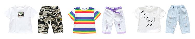 DRXX1905BDX07059 Summer new arrival children t shirts high quality kids clothing sets cool boys t shirts and shorts