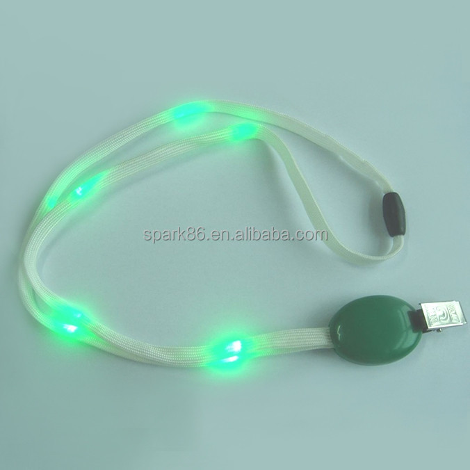 ID card lanyard led flashing jewelry