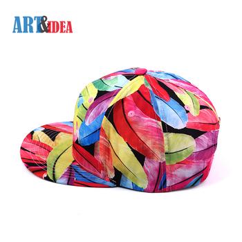 Girls boys fancy image hats custom printed pattern polyester snapback hats  in stylish 1bd28475b4cd