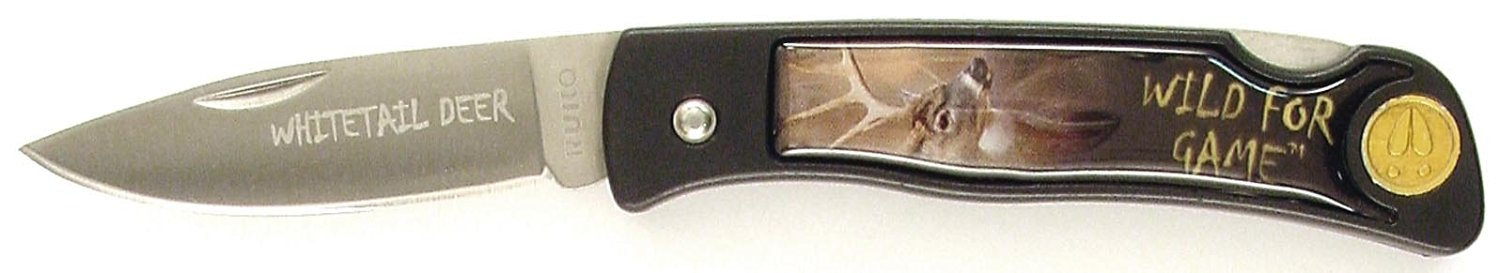 RUKO Whitetail Deer Scene Wild For Game Folding Knife with 2-1/2-Inch Blade