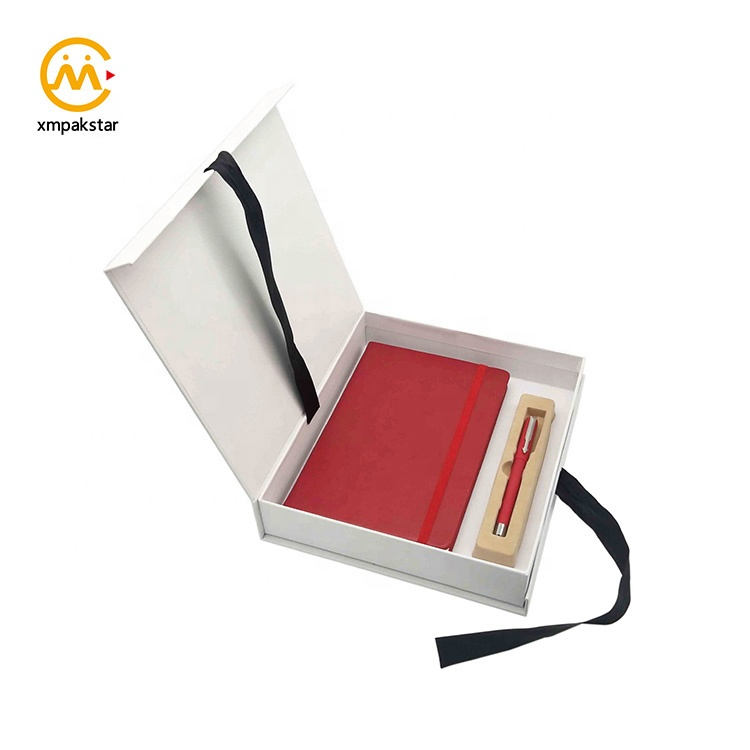 High quality custom PU vintage leather cover notebook notepad and pen office stationery set