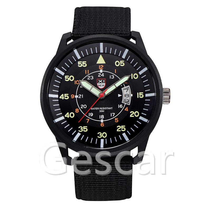 XINEW-2330 nylon strap high quality original luminous quartz casual watch for men