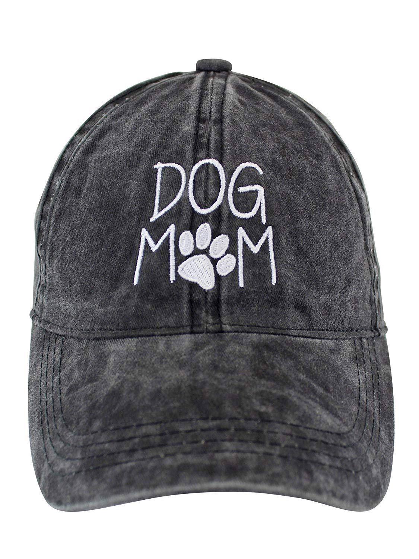 7b78f1d3e34 Get Quotations · Luxury Divas Dog Mom Black Cotton Baseball Cap Hat