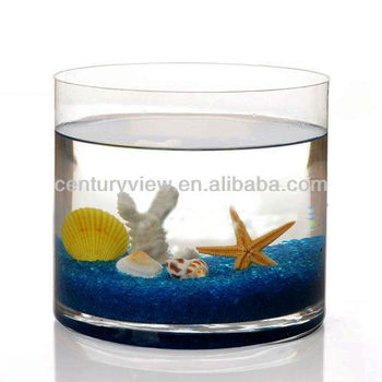 Decorative Glass Fish Bowls Delectable Cylinder Design Home Decoration Glass Fish Bowl  Buy Home Design Inspiration