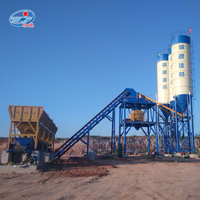 Automatic small mini ready mix cement concrete batching mixer plant price for sale