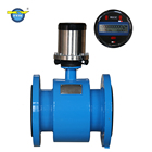Battery Powered Electromagnetic Water Flow Meter with RS485