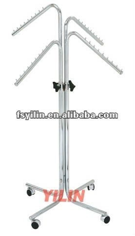 CR23 chrome plated 4 arms steel tube clothes stand