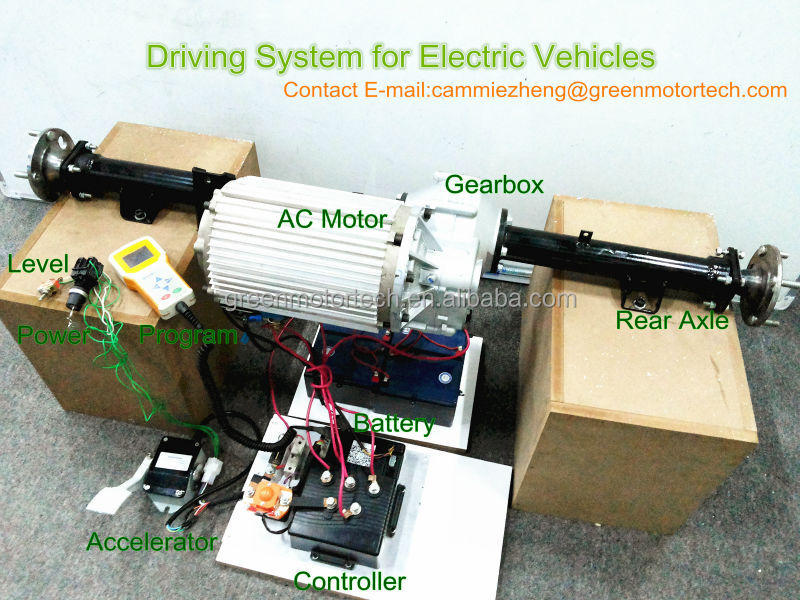 Low speed electric car golf cart transmission axle with for Electric motors for cars for sale