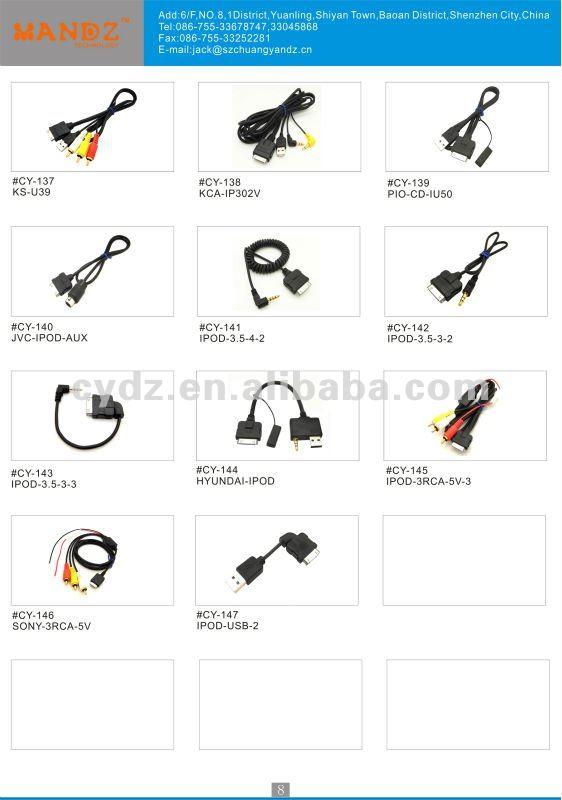 AUX Cable For JVC KS-U58 3.5MM Input iPOD MP3 U57 U29 Arsenal