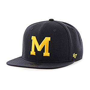 sale retailer bdf47 4d4e9 Get Quotations · NCAA Michigan Wolverines Narrow Block M Snapback Baseball  Cap