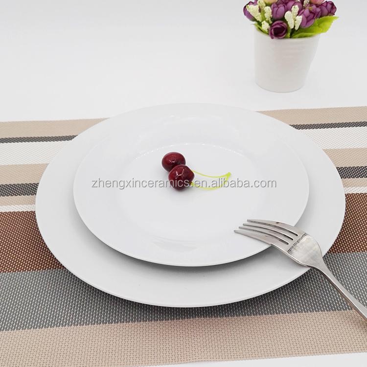 White restaurant ceramic cheap white dinner plates for restaurant