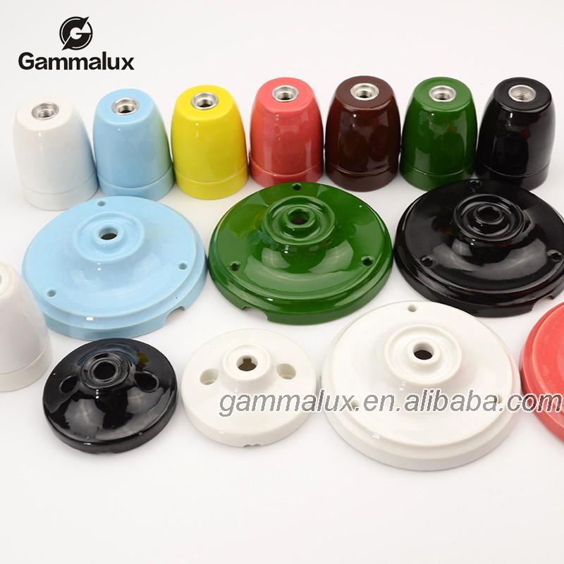 E27 Ceramic Ceiling Rose Lamp Holder,Colourful,Porcelain Lamp Cup   Buy  Porcelain Ceiling Rose Pan Product On Alibaba.com