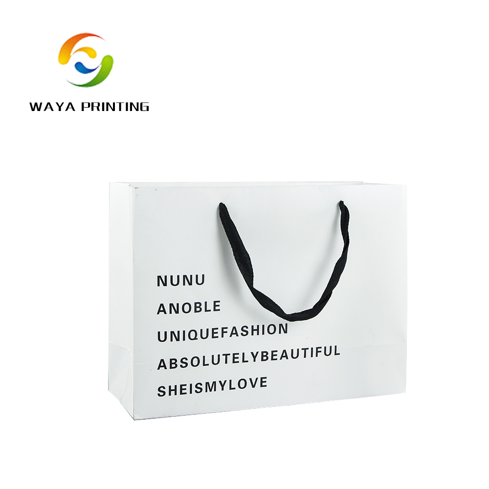 Packaging bag ivory paper print recycled paper bag with your own logo