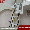 Al-Mg alloy Loft Ladder Extending Steps Access 2.6 meter with side type