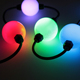 360 degree 50mm 3D globe string light RGB led pixel ball DMX