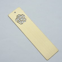 Custom personalized golden silver stainless steel metal wholesale bookmark with  hollow out flower for books