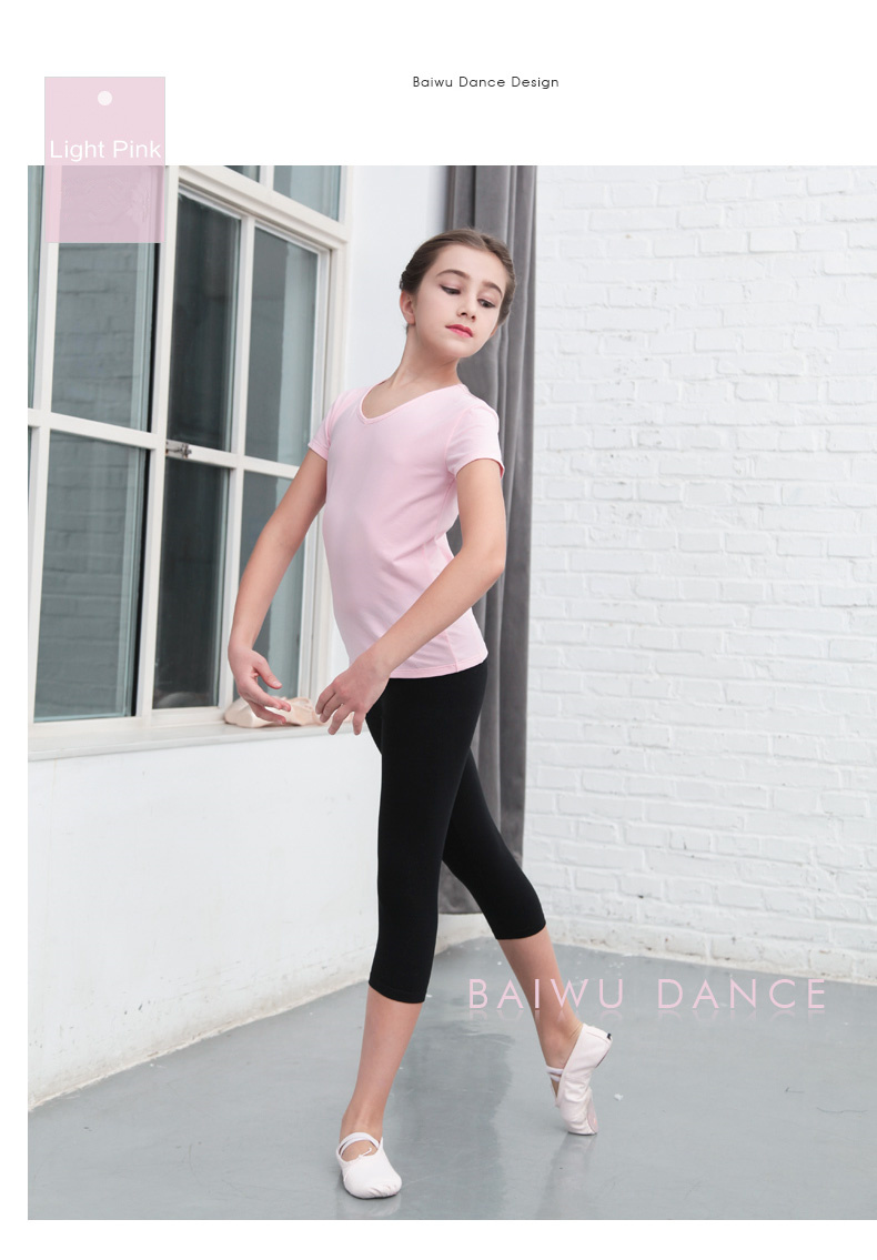 119220007 The  best selling  round neck collar dance top  t shirt girl