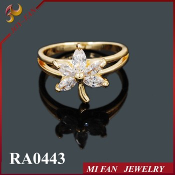 Fashion Maple Shape18k Gold RingEngagement Wedding Ring Designs