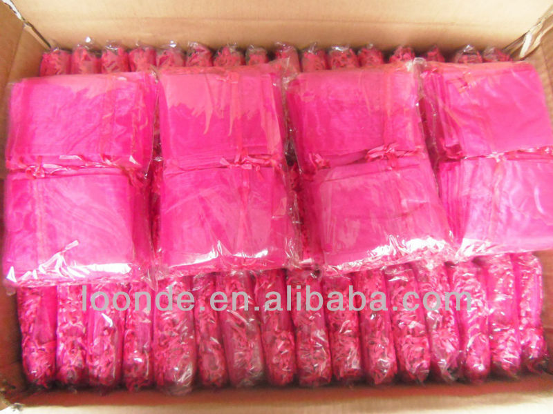 "4""x 16 "" Superior quality satin hair packaging bags for hair extension"