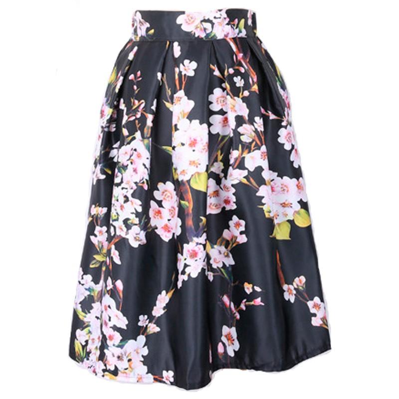 99b1adcd15 High Waist Tutu Skirts Women Vintage Fairy Tales Landscape Printed Ball  Gown Midi Skirt