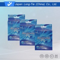 box package vibrating condom for male from China with OEM service
