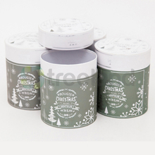 Wholesale Decorative Hat Boxes Christmas Cardboard Cylinder Packaging Box