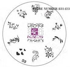 2015 S Series S9 Nail Polish DIY Stamping Plates Stainless Steel plate Nail Art Image Stamp