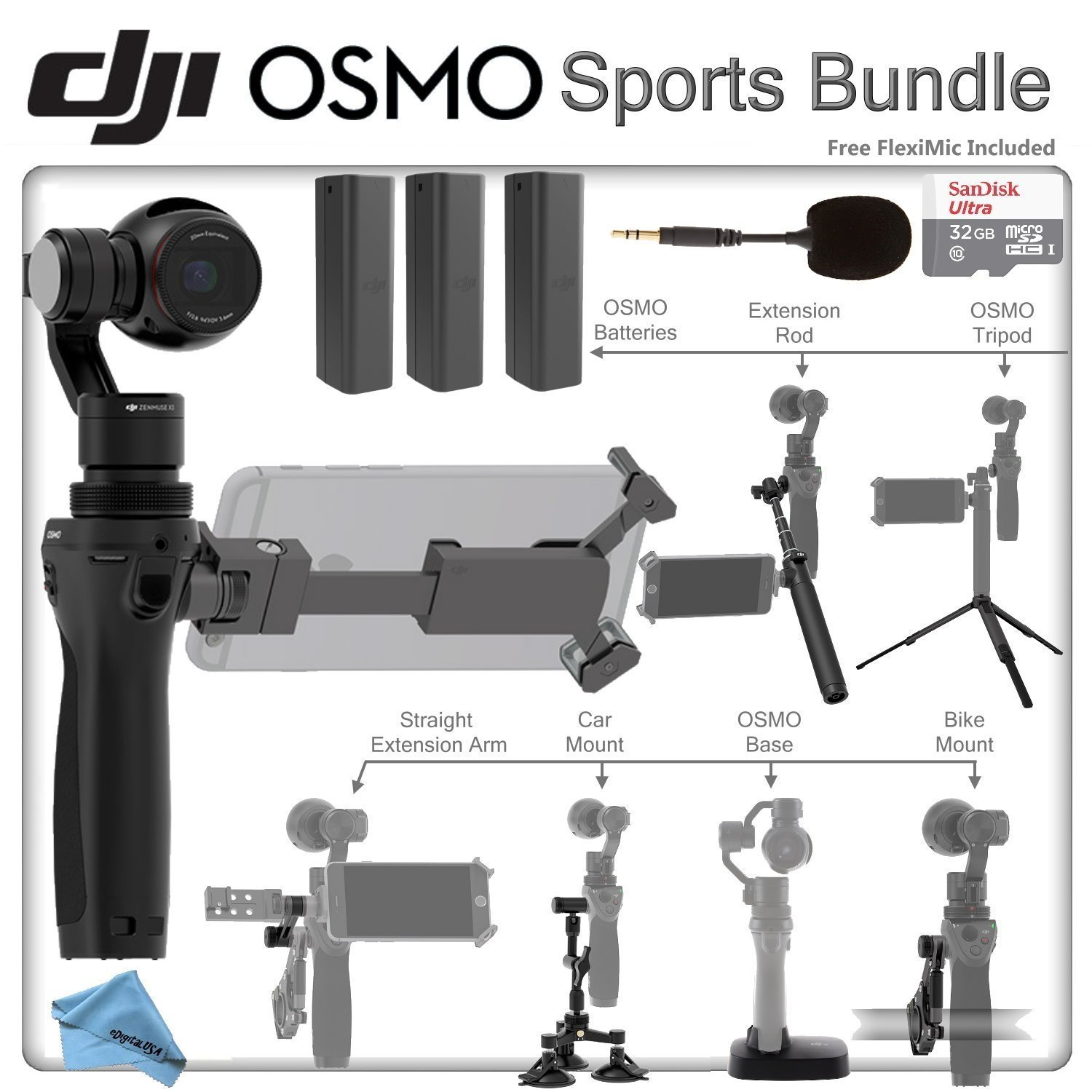 Cheap Osmo Find Deals On Line At Alibabacom Dji Zenmuse M1 Get Quotations Sports Bundle Package