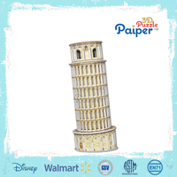 Paper 3 d the Leaning Tower of Pisa children's jigsaw puzzle