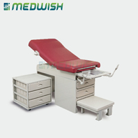 AG-S108 Hospital clinic obstetric bed medical equipment gynecology examination table manual adjustable exam table with drawers