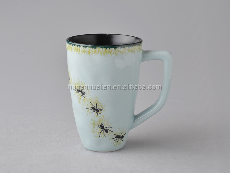 solid color stoneware mug 12oz cups