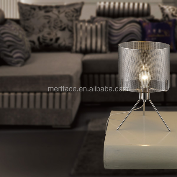 metal art lamp shade led modern hotel table lamps