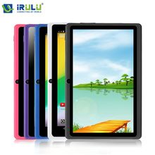 High End Brand IRULU 7″ Tablet PC 8GB Android 4.4 Quad Core 1024*600 HD A33 Dual Cam Factory Price Tablet w/Keyboard 2014 New