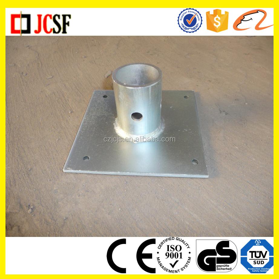 Polvo andamios apuntalamiento de acero placa base para marcos de ...
