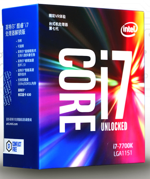 인텔 프로세서 용 I7-7700K CPU LGA1151 4.2GHz DESKTOP CPU